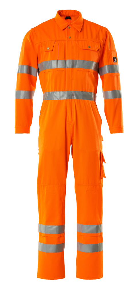 00419-860-14 Boilersuit with kneepad pockets - hi-vis orange