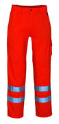 00479-860-14 Pants with kneepad pockets - hi-vis orange