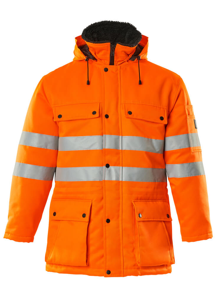 00510-660-14 Parka Jacket - hi-vis orange