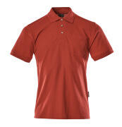 00783-260-02 Polo Shirt with chest pocket - red