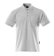 00783-260-08 Polo Shirt with chest pocket - grey-flecked