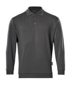 00785-280-18 Polo Sweatshirt - dark anthracite