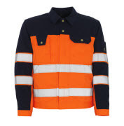 00909-860-141 Jacket - hi-vis orange/navy