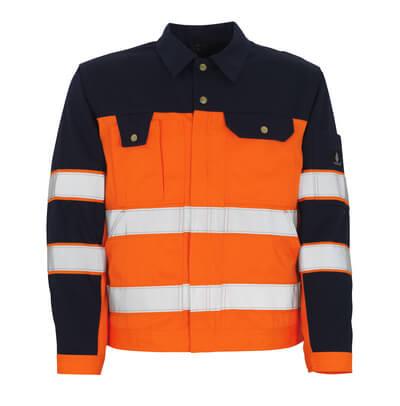 00909-860-141 Jacket - hi-vis orange/navy