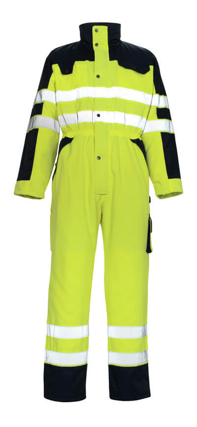 00921-660-171 Winter Boilersuit - hi-vis yellow/navy