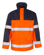 00930-880-141 Parka Jacket - hi-vis orange/navy