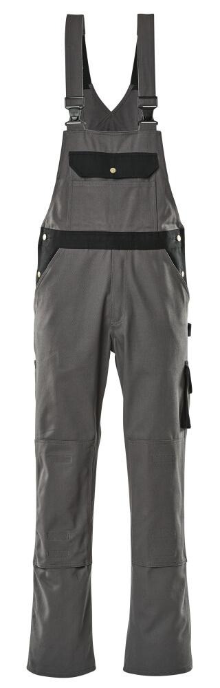 00962-630-8889 Bib & Brace with kneepad pockets - anthracite/black