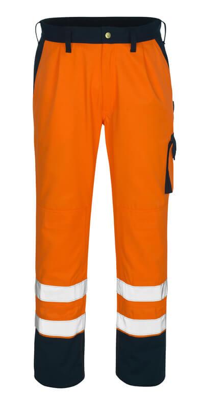 00979-860-141 Trousers with kneepad pockets - hi-vis orange/navy