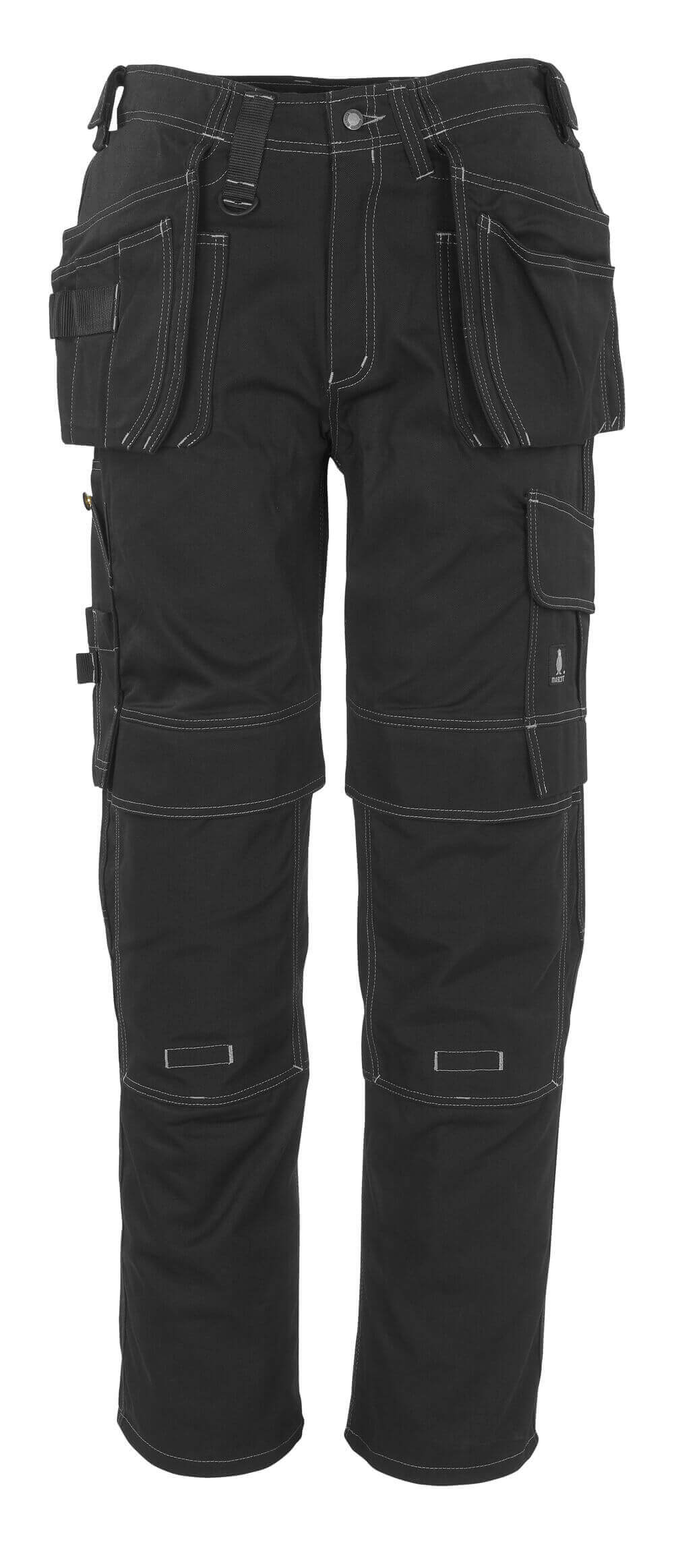 06131-630-09 Pants with kneepad pockets and holster pockets - black