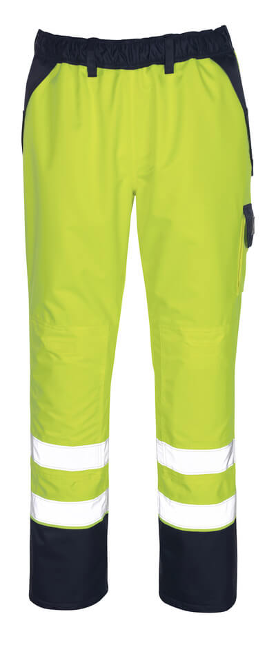 07090-880-141 Over pants with kneepad pockets - hi-vis orange/navy