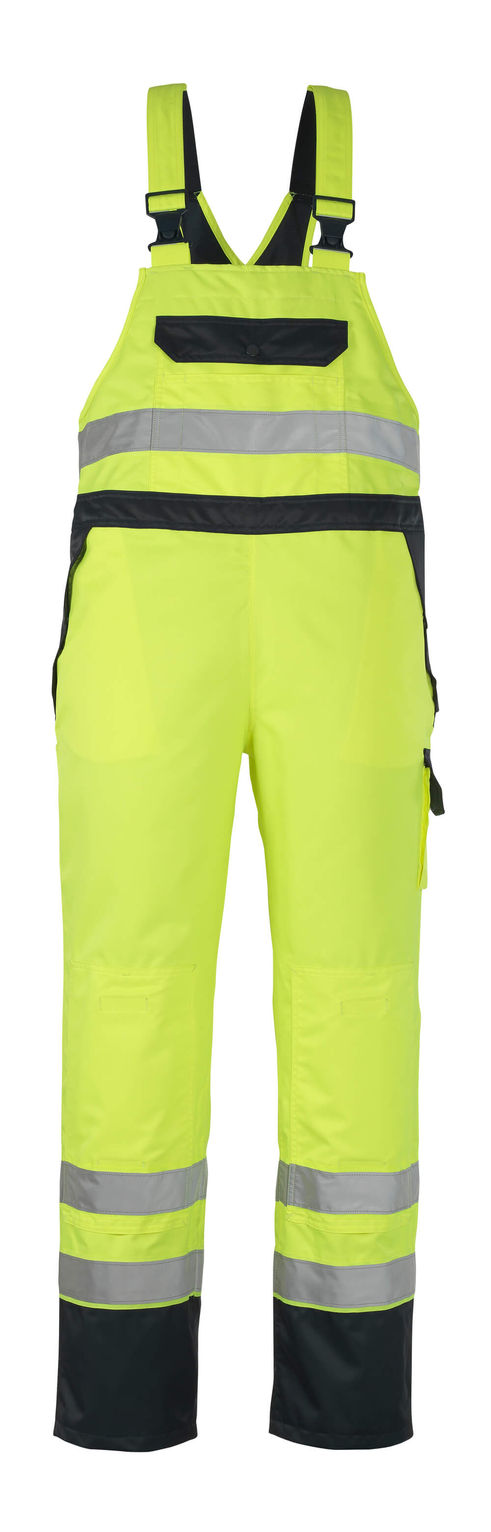 07092-880-171 Bib & Brace Over Trousers - hi-vis yellow/navy