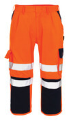 07149-860-141 ¾ Length Pants with kneepad pockets - hi-vis orange/navy