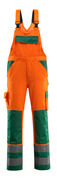 07169-860-1403 Bib & Brace with kneepad pockets - hi-vis orange/green
