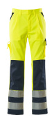 07179-470-171 Pants with kneepad pockets - hi-vis yellow/navy