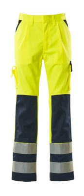 07179-470-171 Pants with kneepad pockets - hi-vis yellow/navy