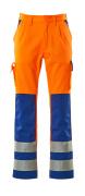 07179-860-1411 Pants with kneepad pockets - hi-vis orange/royal