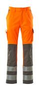 07179-860-14888 Pants with kneepad pockets - hi-vis orange/anthracite