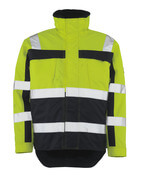 07223-880-171 Winter Jacket - hi-vis yellow/navy