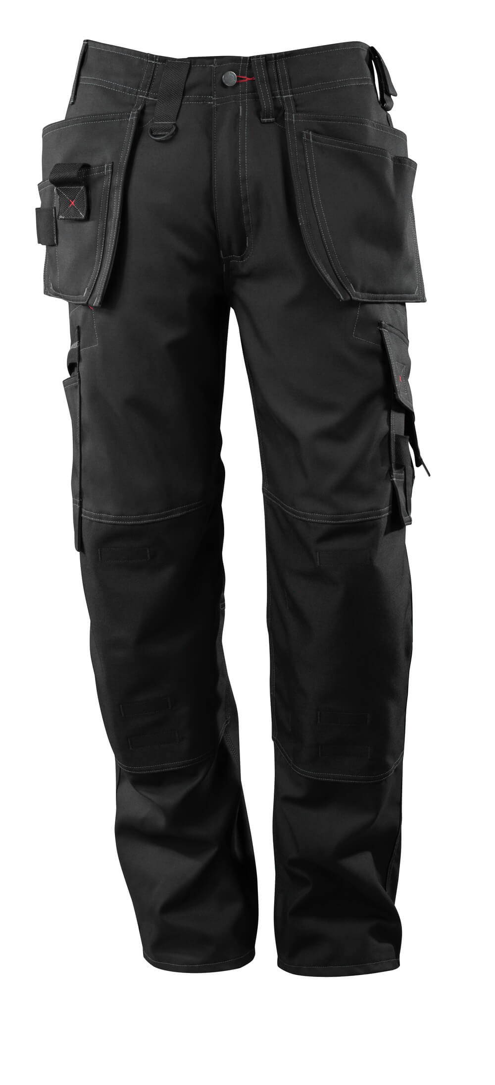 07379-154-09 Pants with kneepad pockets and holster pockets - black