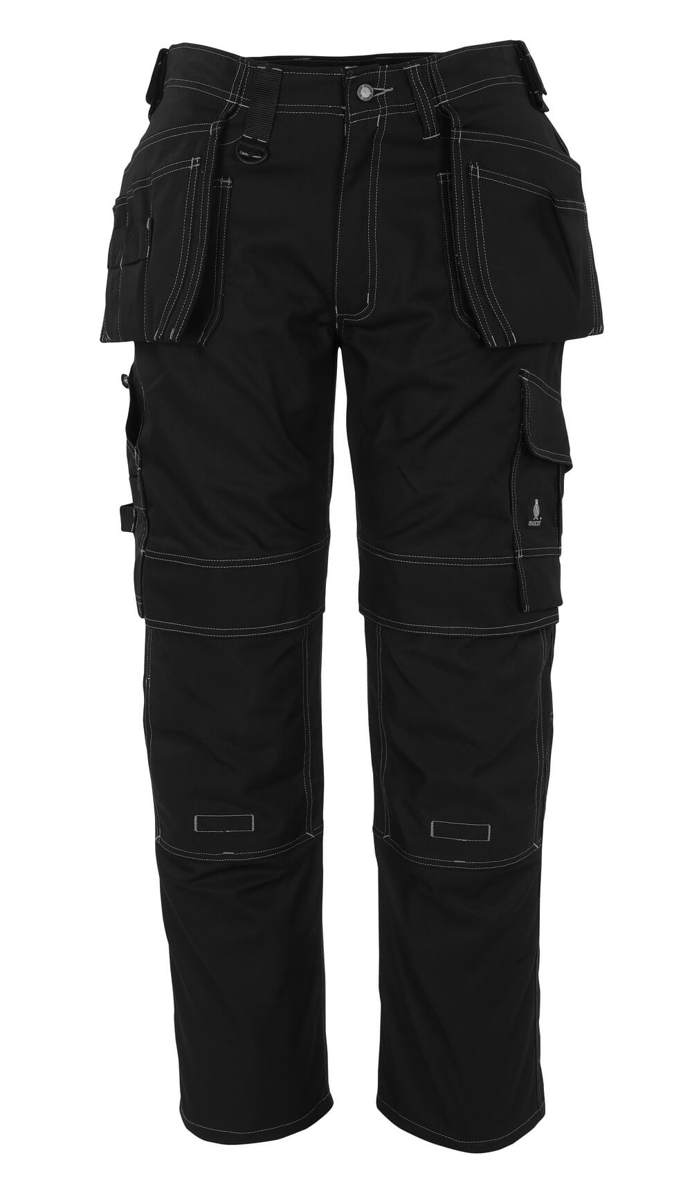 08131-010-09 Pants with kneepad pockets and holster pockets - black