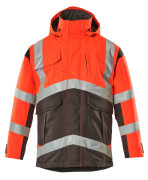 09030-025-A49 Parka Jacket - hi-vis red/dark anthracite