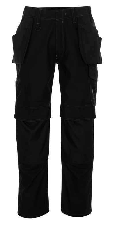 10131-154-010 Pants with kneepad pockets and holster pockets - dark navy