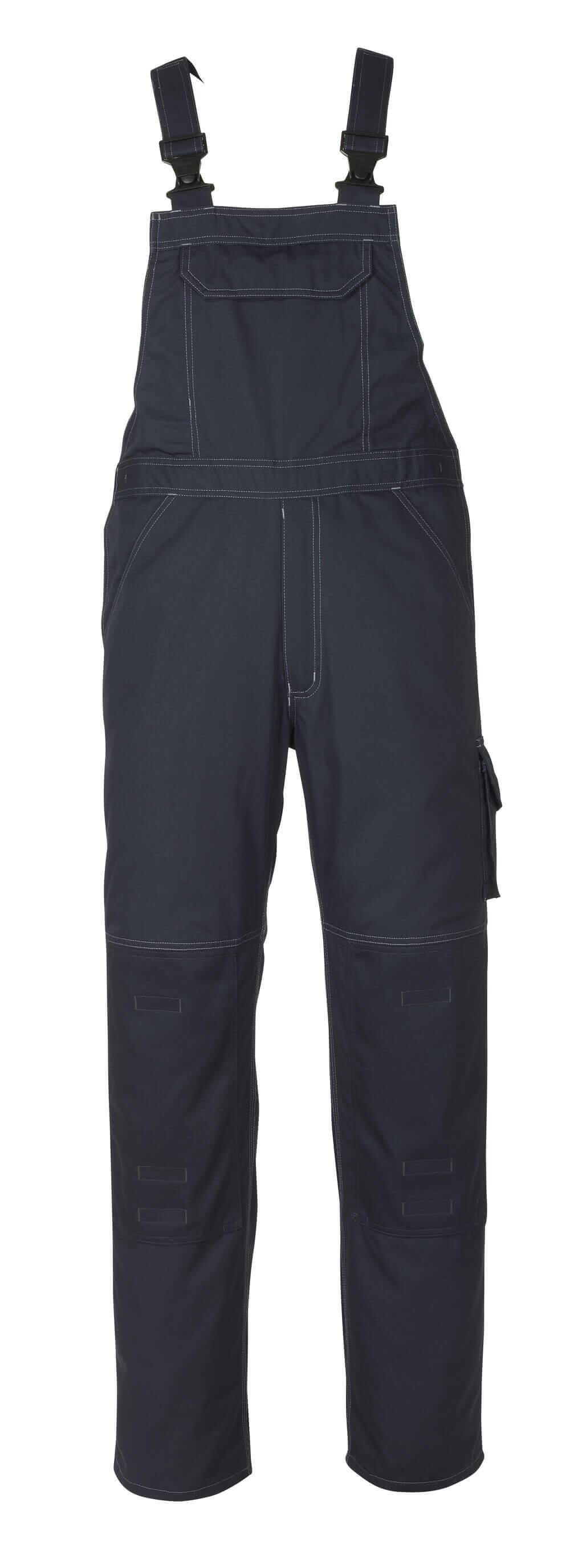 10569-442-010 Bib & Brace with kneepad pockets - dark navy