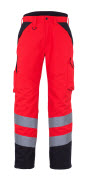 11090-025-A49 Winter Pants - hi-vis red/dark anthracite