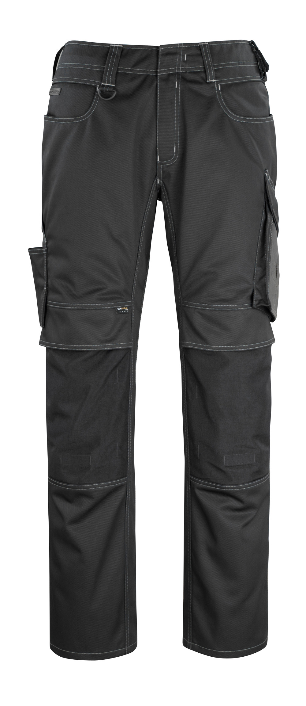 12179-203-0918 Pants with kneepad pockets - black/dark anthracite