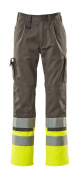 12379-430-88817 Pants with kneepad pockets - anthracite/hi-vis yellow