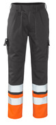 12379-430-B01 Pants with kneepad pockets - anthracite/hi-vis orange