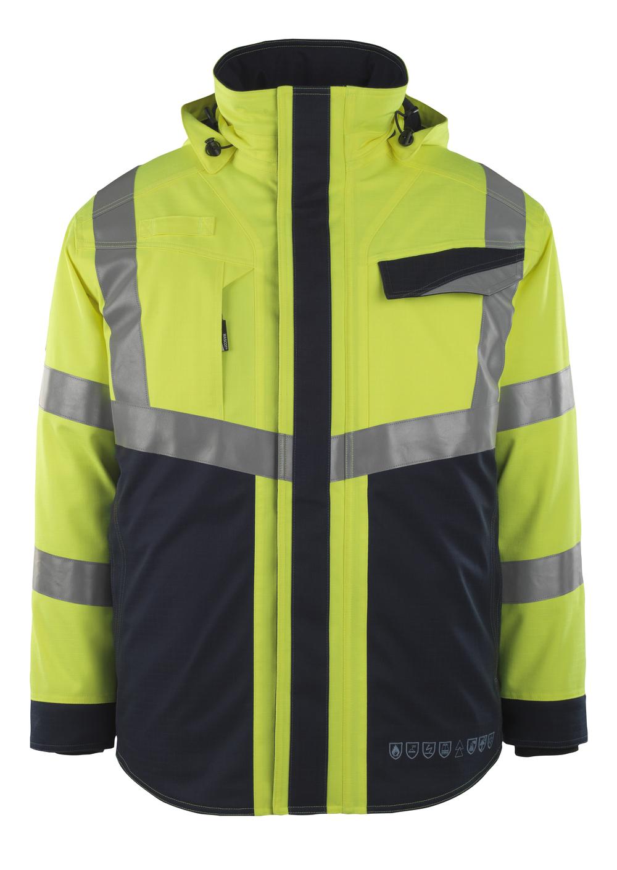 13830-217-17010 Winter Jacket - hi-vis yellow/dark navy