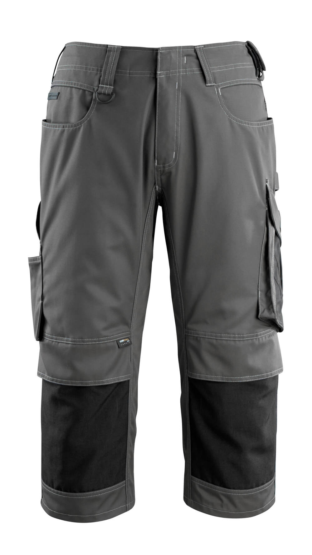 14149-442-1809 ¾ Length Pants with kneepad pockets - dark anthracite/black