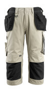 14349-442-5509 ¾ Length Pants with kneepad pockets and holster pockets - light khaki/black