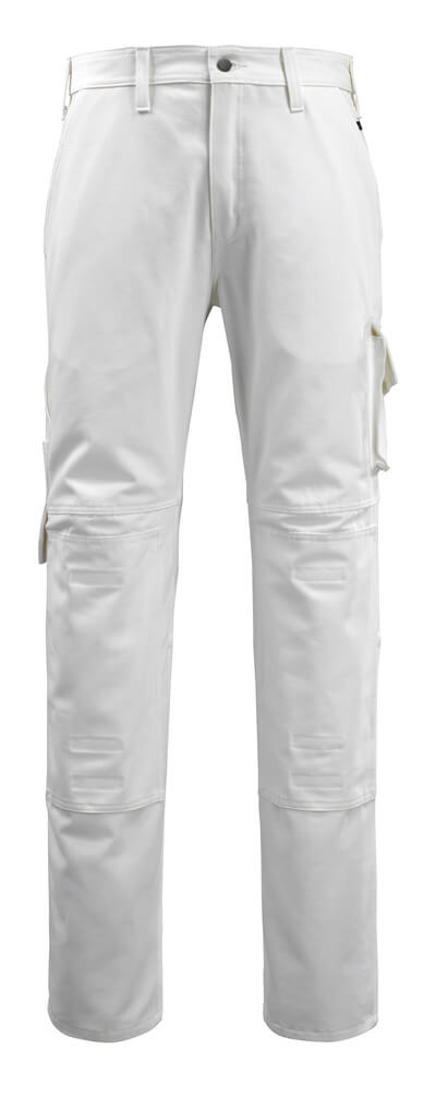 14579-197-06 Pants with kneepad pockets - white
