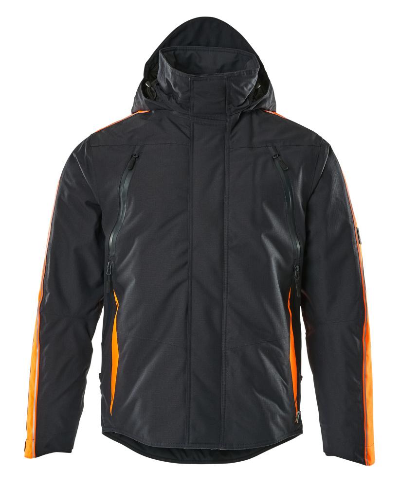 15035-222-01014 Winter Jacket - dark navy/hi-vis orange