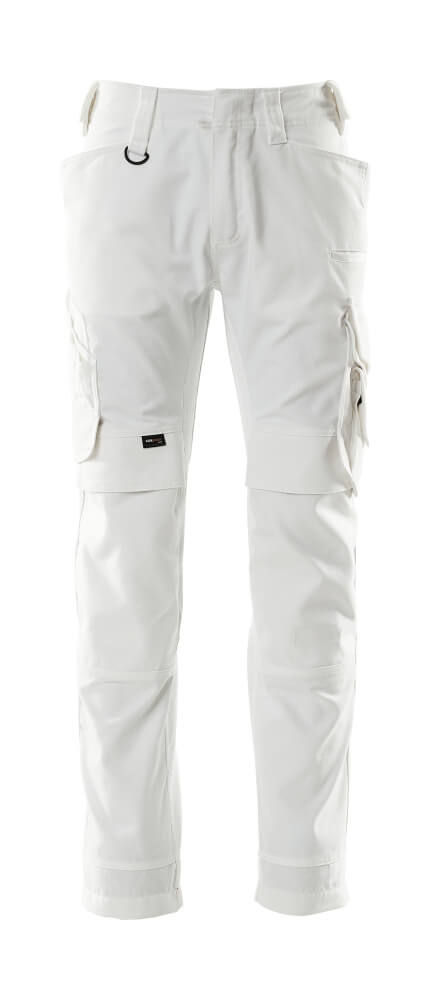 15079-010-06 Pants with kneepad pockets - white