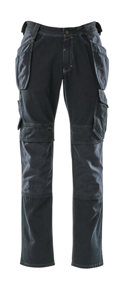 15131-207-86 Jeans with kneepad pockets and holster pockets - dark blue denim