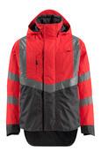 15501-231-22218 Outer Shell Jacket - hi-vis red/dark anthracite