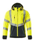 15502-246-17010 Softshell Jacket - hi-vis yellow/dark navy