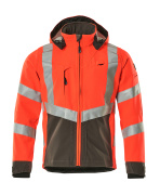 15502-246-22218 Softshell Jacket - hi-vis red/dark anthracite