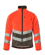 15503-259-22218 Fleece Jacket - hi-vis red/dark anthracite