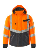 15535-231-14010 Winter Jacket - hi-vis orange/dark navy