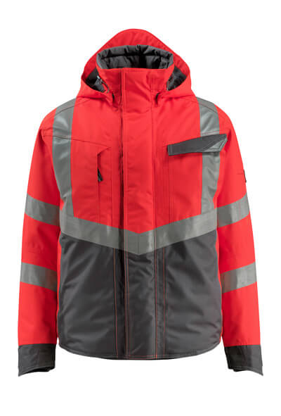15535-231-14010 Winter Jacket - hi-vis orange/dark navy