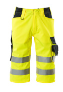 15549-860-17010 ¾ length pants - hi-vis yellow/dark navy