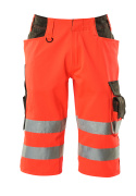 15549-860-22218 ¾ length pants - hi-vis red/dark anthracite