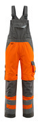 15569-860-1418 Bib & Brace with kneepad pockets - hi-vis orange/dark anthracite
