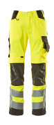 15579-860-1718 Trousers with kneepad pockets - hi-vis yellow/dark anthracite