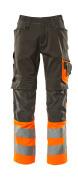 15679-860-1814 Trousers with kneepad pockets - dark anthracite/hi-vis orange