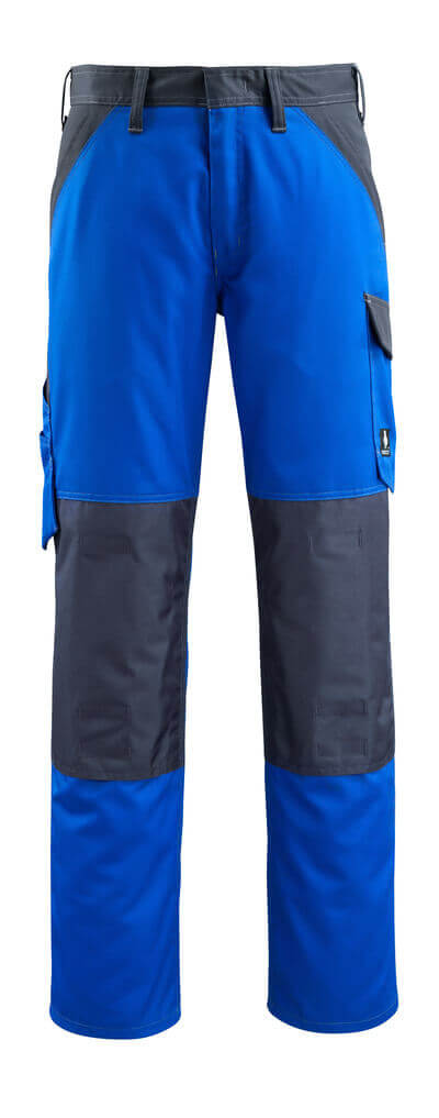 15779-330-11010 Trousers with kneepad pockets - royal/dark navy